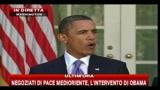 Medioriente, Obama, l'America non pu?? imporre una soluzione