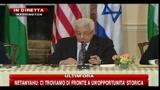 Negoziati Medio Oriente, Abu Mazen: I negoziati devono portarci a una pace giusta