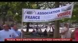 Rom e sinistra francese in piazza contro Sarkozy