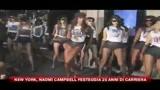 New York, Naomi Campbell festeggia 25 anni di carriera