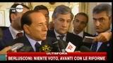 Berlusconi niente voto avanti con le riforme
