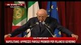 5-Napolitano: auspico stagione di confronto produttivo per il Paese