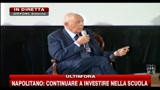 Napolitano: continuare a investire nella scuola