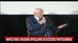 Napolitano: bisogna spogliarsi da eccesso di partigianeria