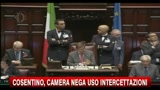 Cosentino, camera nega uso intercettazioni