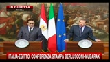 Conferenza Mubarak-Berlusconi