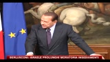 Berlusconi: Israele prolunghi moratoria insediamenti