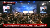 Pdl, Berlusconi interviene alla festa della libert