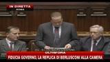 Camera, replica di Berlusconi