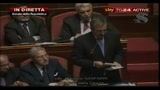 Fiducia al Senato: intervento di Maurizio Gasparri