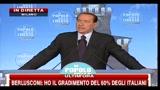 9 - Berlusconi, festa PDL- la sinistra è la stessa di 16 anni fa