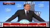 8 - Berlusconi, festa PDL- ho il gradimento del 60% degli italiani