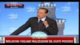 13 - Berlusconi, festa PDL- certa magistratura è macigno sulla democrazia