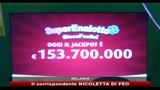 Superenalotto, jackpot da 153,7 milioni di euro
