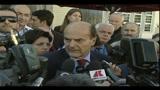 Bersani, commento al pranzo della pace