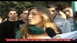 15/10/2010 - Sciopero scuola, le voci degli studenti di Roma