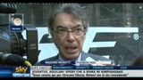 Moratti, soddisfatto della prestazione dell'Inter