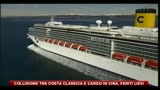 Collisione tra Costa Classica e cargo in Cina, feriti lievi
