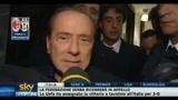 Silvio Berlusconi al termine di Milan-Juventus