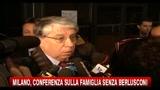 Milano, conferenza sulla famiglia senza Berlusconi