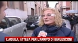 L'Aquila, attesa per l'arrivo di Berlusconi