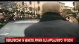 Berlusconi in Veneto, prima gli applausi poi i fischi