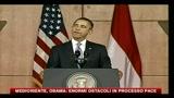 Medioriente, Obama- enormi ostacoli nel processo di pace