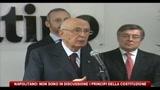 Napolitano: non sono in discussione i principi della Costituzione