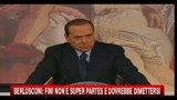 Berlusconi: Fini non  super partes e dovrebbe dimettersi