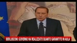 Berlusconi: il governo ha realizzato qunto promesso in aula