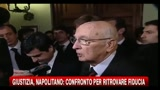 Giustizia, Napolitano: confronto per ritrovare la fiducia