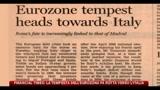 Financial Times: la tempesta dell'Eurozona fa rotta verso l'Italia