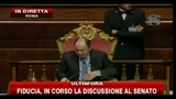 Fiducia, controreplica di Berlusconi al Senato