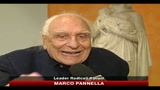 Pannella: impossibile votare la fiducia a questo governo