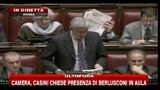 Casini alla Camera: da Berlusconi nessuna autocritica