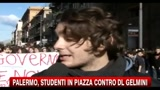 Palermo, studenti in piazza contro DL Gelmini