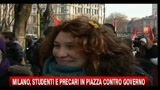 Milano, studenti e precari in piazza contro il governo