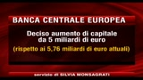 BCE aumento di capitale di 5 miliardi di euro