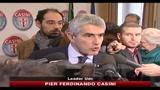 Casini: positiva l'autocritica di Bersani, ma oggi no alle elezioni