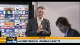 Moratti presenta Leonardo
