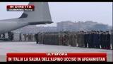 In Italia la salma dell'alpino ucciso in Afghanistan