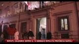 Rifiuti, Caldoro: entro il 15 gennaio ripulita la provincia di Napoli