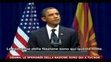 Obama: le speranze della nazione sono qui a Tucson
