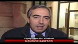 13/01/2011 - Legittimo impedimento, Gasparri: magistratura tenga conto impegni di governo
