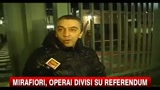 13/01/2011 - Mirafiori, operai divisi su referendum