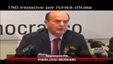 Caso Ruby, Bersani: Belusconi  un premier in fuga