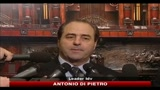 14/01/2011 - Berlusconi, Di Pietro: nessuno lo perseguita, fatti gravi