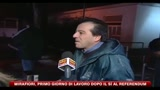 17/01/2011 - Mirafiori, primo giorno di lavoro dopo il s al referendum
