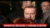 18/01/2011 - Afghanistan, Berlusconi ci chiediamo se restare