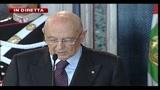 Giornata dell'informazione, l'intervento di Napolitano